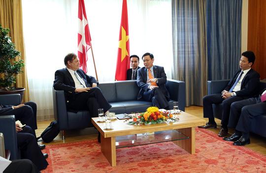 Phó Thủ tướng Vương Đình Huệ gặp nhiều tập đoàn Thụy Sỹ - Ảnh 2.