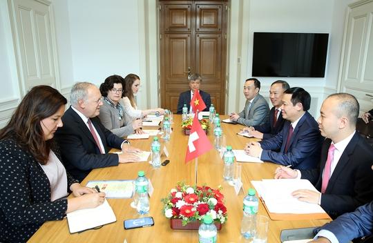 Phó Thủ tướng Vương Đình Huệ gặp nhiều tập đoàn Thụy Sỹ - Ảnh 4.