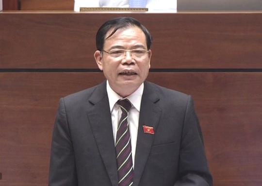 Bộ trưởng Nông nghiệp Nguyễn Xuân Cường trả lời chất vấn - Ảnh 1.
