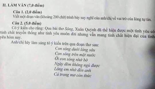 Nghi lộ đề, Khánh Hòa cho dừng thi môn toán lớp 12 toàn tỉnh - Ảnh 2.