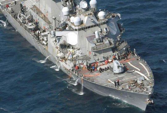 Tàu chiến Mỹ va chạm tàu hàng Philippines, 7 binh sĩ mất tích - Ảnh 2.