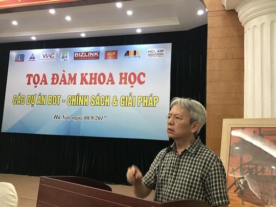 TS Nguyễn Sỹ Dũng: Thu phí BOT như kiểu trấn lột - Ảnh 1.