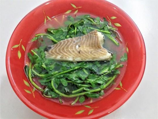 Hay rau đắng nấu cùng cá lóc