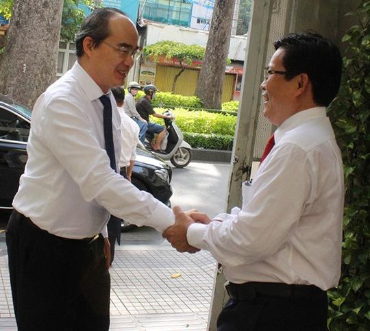 Bí thư Nguyễn Thiện Nhân thăm Trang tin Điện tử Đảng bộ TP HCM - Ảnh 1.