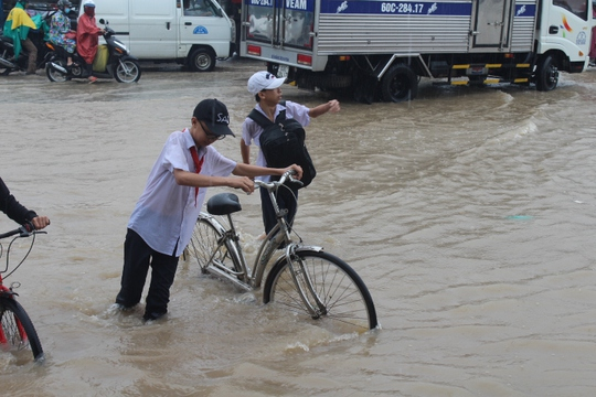 Mưa lớn, các xe ở TP Biên Hòa bơi trên sông - Ảnh 8.
