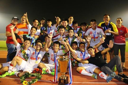 Niềm vui của U21 HAGL trong lần đầu tiên lên ngôi ở giải U21 quốc gia