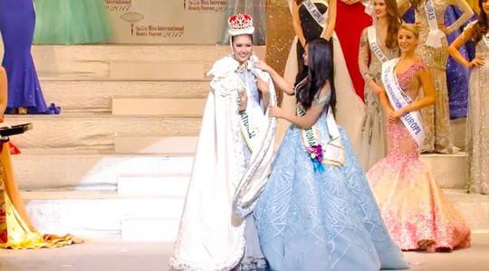 Cận cảnh nhan sắc tân Hoa hậu Quốc tế - Ảnh 3.