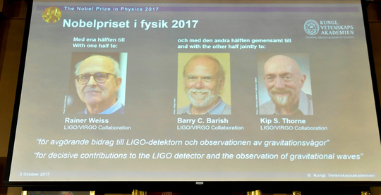 Nobel Vật lý 2017 tôn vinh khám phá đầu tiên về sóng hấp dẫn - Ảnh 3.
