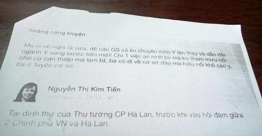 Giám đốc Sở TT-TT tỉnh Thừa Thiên - Huế: Xử phạt BS Truyện là đúng! - Ảnh 1.