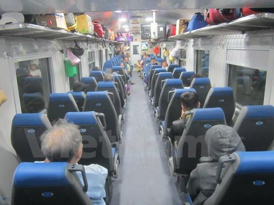 Các toa xe có nội thất, trang thiết bị hiện đại, rộng rãi và tiện nghi. (Ảnh: Xuân Tình/Vietnam+)