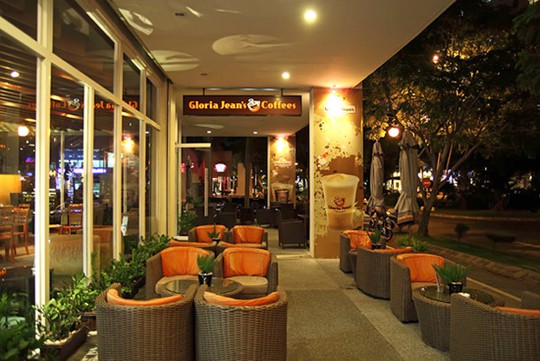 Gloria Jean's Coffees Grand View, Phú Mỹ Hưng là cửa hàng cuối cùng của thương hiệu cà phê Australia tại Việt Nam. Ảnh: GJC.