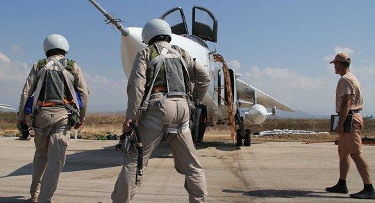 Lực lượng không quân Nga tại căn cứ Khmeimim. Ảnh: SPUTNIK
