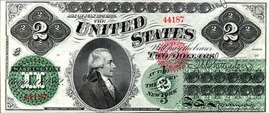 Những điều thú vị về tờ 2 USD - Ảnh 1.