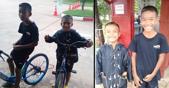 Hai anh em đạp xe 5 tiếng để thăm cha trong tù - Ảnh 1.