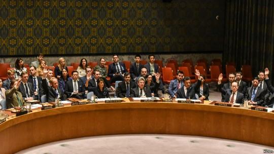 Các đại sứ tại Liên Hiệp Quốc biểu quyết hôm 11-9. Ảnh: Reuters