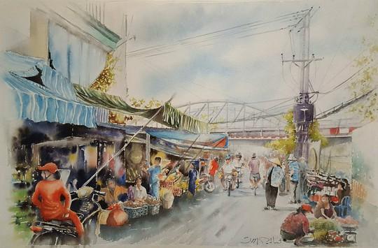 Họa sĩ Pháp triển lãm tranh về Việt Nam tại bảo tàng quê nhà - Ảnh 10.