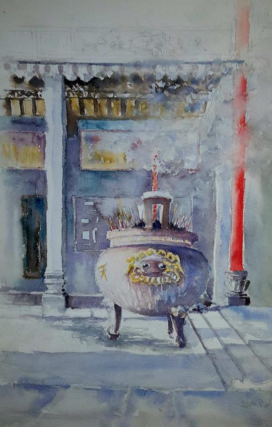Họa sĩ Pháp triển lãm tranh về Việt Nam tại bảo tàng quê nhà - Ảnh 7.