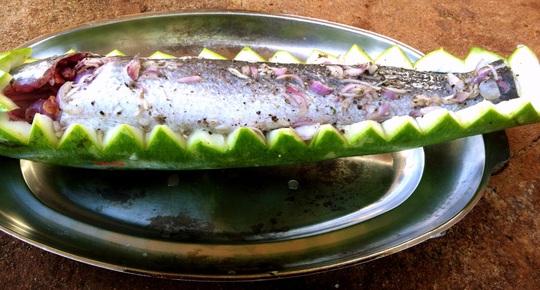 Thơm ngon, bổ dưỡng cá lóc hấp bầu - Ảnh 3.