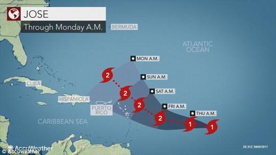 Ba cơn bão đồng loạt hoành hành ở Đại Tây Dương - Ảnh 3.