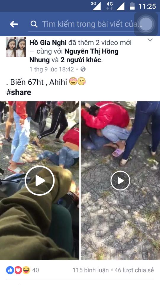 Clip nhóm thanh niên ở Phú Quốc cổ vũ nữ sinh đánh nhau - Ảnh 2.