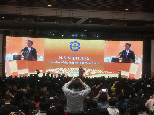 Chủ tịch Trung Quốc Tập Cận Bình đăng đàn APEC 2017 - Ảnh 1.