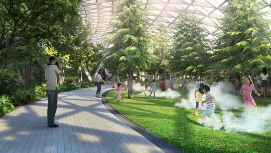 Sân bay Changi đưa thác nước, rừng nhân tạo vào nhà - Ảnh 12.