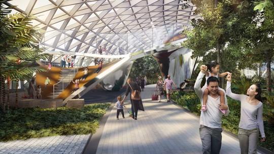 Sân bay Changi đưa thác nước, rừng nhân tạo vào nhà - Ảnh 13.