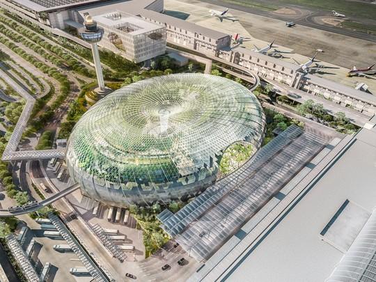 Sân bay Changi đưa thác nước, rừng nhân tạo vào nhà - Ảnh 2.