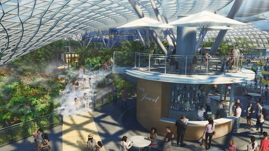 Sân bay Changi đưa thác nước, rừng nhân tạo vào nhà - Ảnh 3.