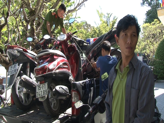 Đi hơn 1.000 km ra Huế tạm trú để trộm hàng loạt xe máy - Ảnh 1.