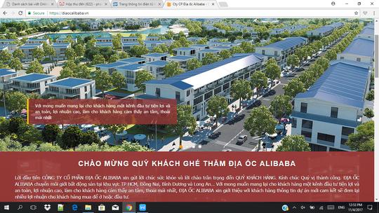 Các trang web liên quan đến Alibaba đóng cửa sau cảnh báo của HoREA - Ảnh 1.