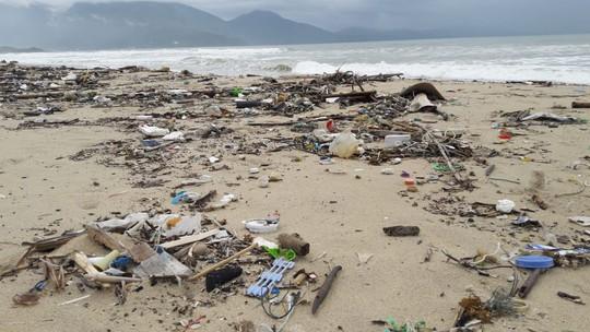 Hàng chục tấn rác bủa vây 9 km bờ biển Đà Nẵng - Ảnh 1.