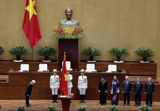 Chủ tịch nước Nguyễn Phú Trọng tuyên thệ nhậm chức - Ảnh 3.