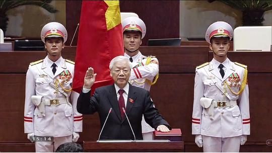 Chủ tịch nước Nguyễn Phú Trọng tuyên thệ nhậm chức - Ảnh 1.