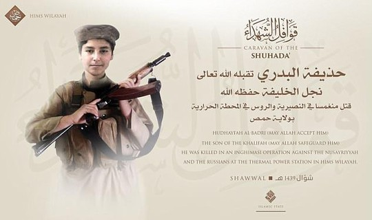 Con trai út thủ lĩnh IS chết vì bom Nga - Ảnh 1.