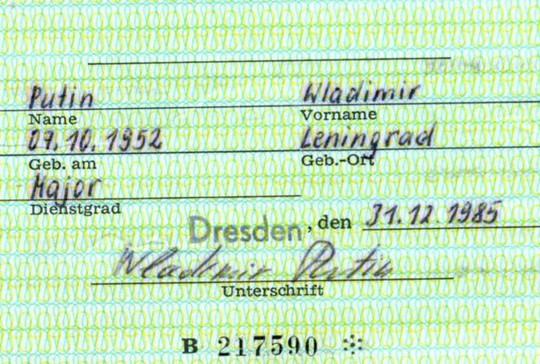 Tìm thấy thẻ điệp viên Stasi của Tổng thống Putin tại Đức - Ảnh 2.