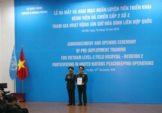 Ra mắt bệnh viện dã chiến số 2 của Việt Nam - Ảnh 7.