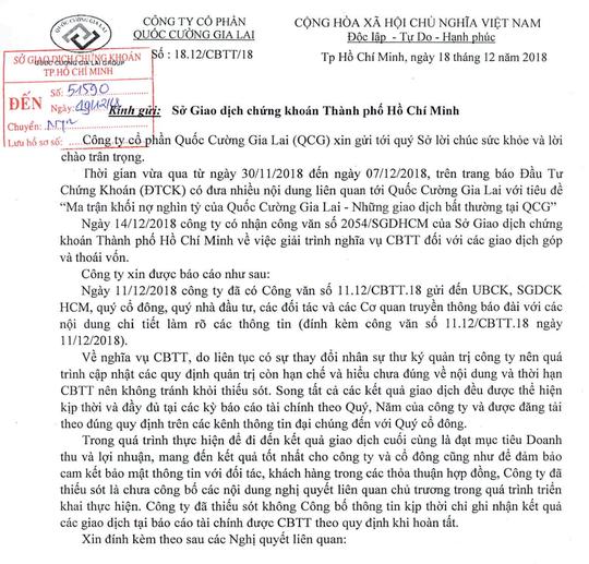 Quốc Cường Gia Lai thừa nhận giấu 14 giao dịch bất thường trị giá 3.200 tỉ đồng - Ảnh 2.