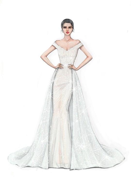 Hé lộ trang phục Tiểu Vy mặc đêm chung kết Hoa hậu Thế giới - Ảnh 1.