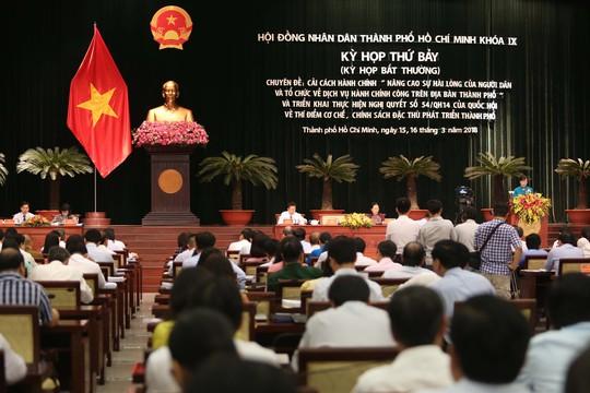 HĐND TP HCM khai mạc kỳ họp bất thường - Ảnh 2.