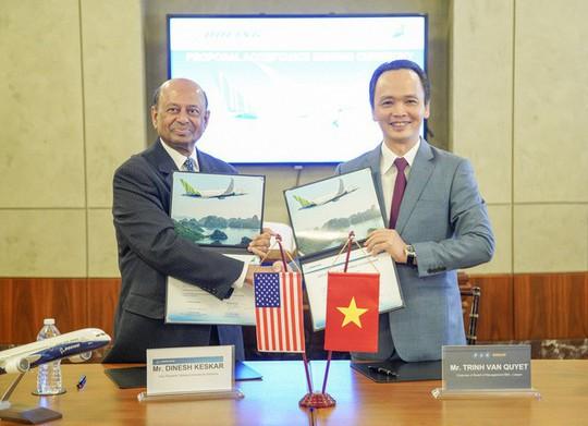 Bamboo Airways ký thỏa thuận mua 20 máy bay Boeing 787-9 Dreamliner giá 5,6 tỉ USD - Ảnh 1.