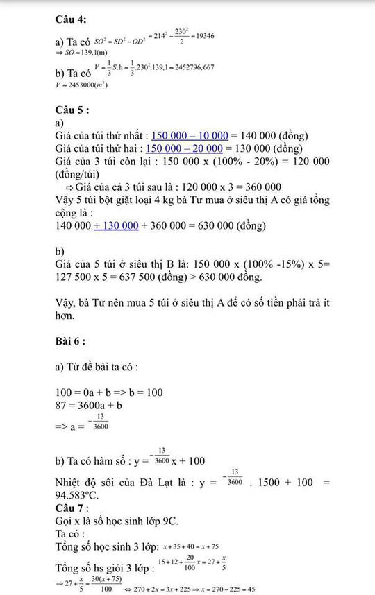 Gợi ý giải đề thi môn toán lớp 10 - Ảnh 3.