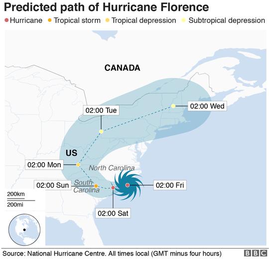 Mỹ vừa hứng bão quái vật Florence vừa lo rắn độc - Ảnh 1.