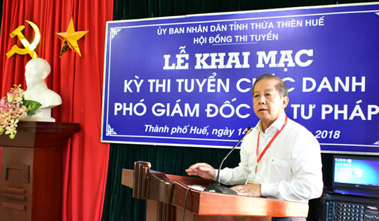 Thừa Thiên - Huế tổ chức thi tuyển Phó Ban Nội chính Tỉnh ủy - Ảnh 1.