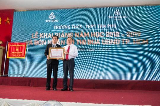 Trường THCS - THPT Tân Phú khai giảng năm học mới - Ảnh 3.