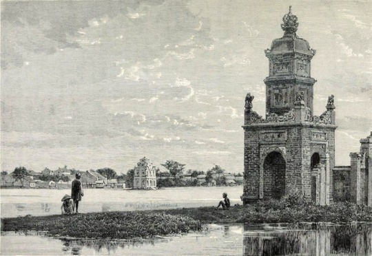 Thú vị diện mạo Hồ Gươm hơn 1 thế kỷ trước - Ảnh 3.