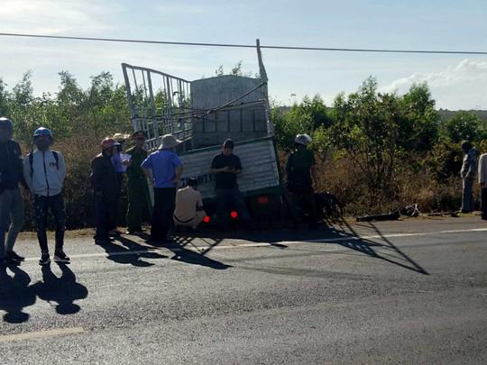 Xe tải gãy trục, mất lái, tông chết 3 chị em là xe Trung Quốc - Ảnh 1.