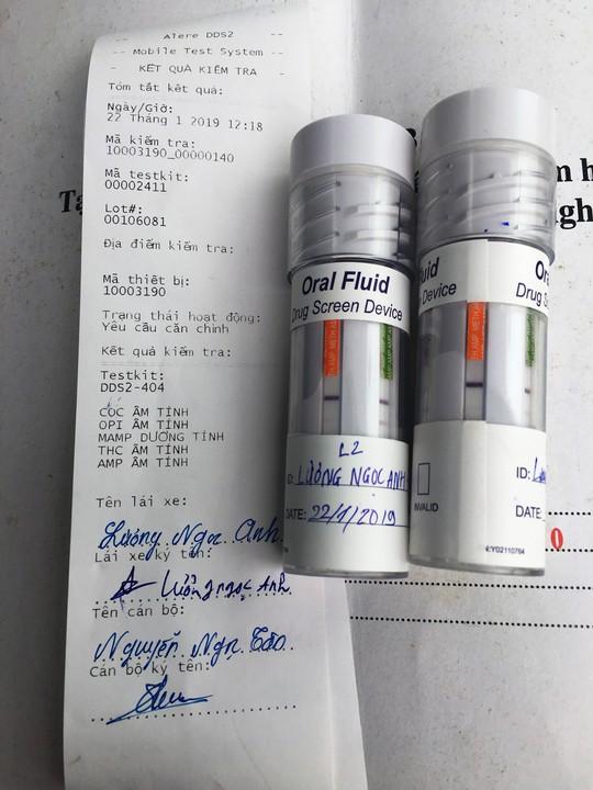 Phát hiện tài xế container chạy đường dài có sử dụng ma túy khi lái xe - Ảnh 2.