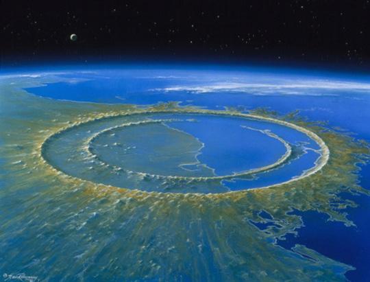 Axit tràn khắp các đại dương vì tiểu hành tinh 10 km đâm vào trái đất - Ảnh 1.