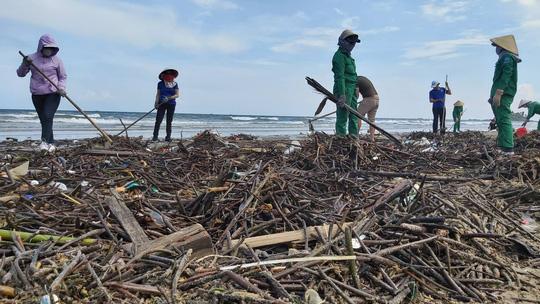 Cận cảnh bãi biển Vũng Tàu bị cả trăm tấn rác vây kín! - Ảnh 7.